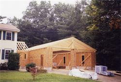 Garage Frame.  This is one of a larger 30'x48' garages with a seperate 12'x12' mudroom.