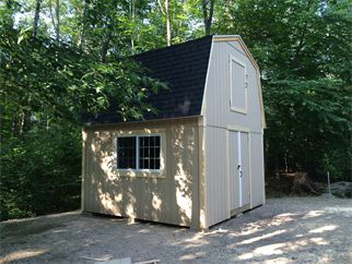 14'14' two story gambrel shed.